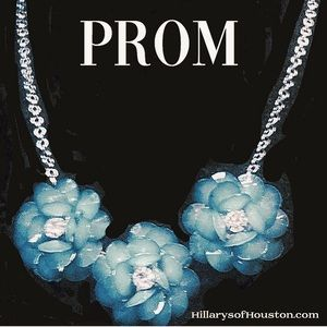 wabi Sabi Jewelry - Romantic Vintage style prom necklace 18""